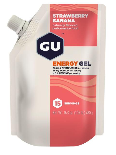 GU Energy Gel Energitillskott Strawberry Banana 480g